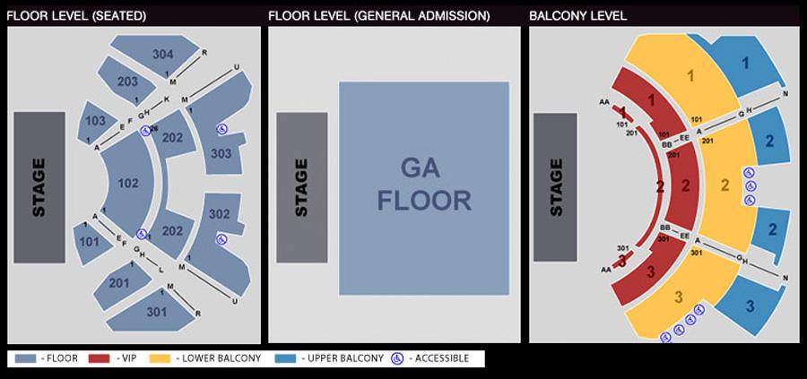 Club nokia seating chart theatre in la