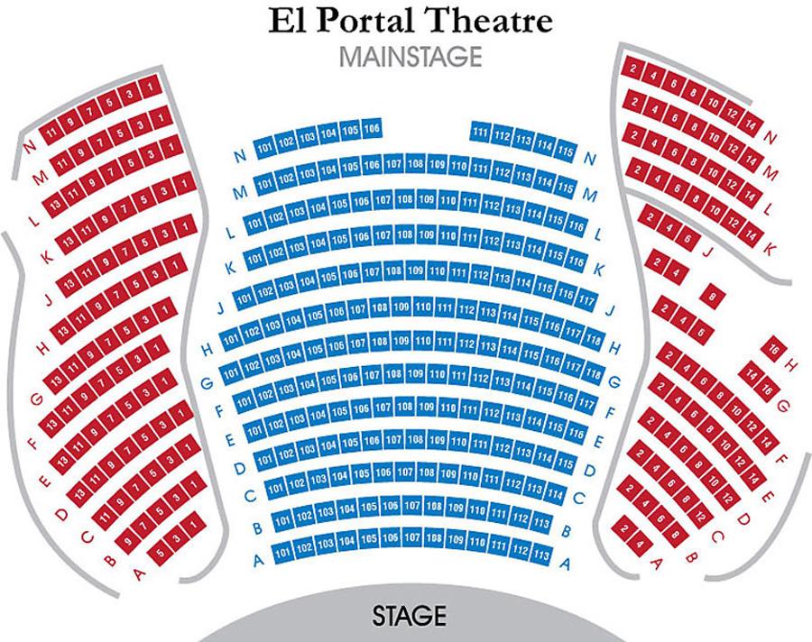 El portal theatre mainstage seating chart theatre in la