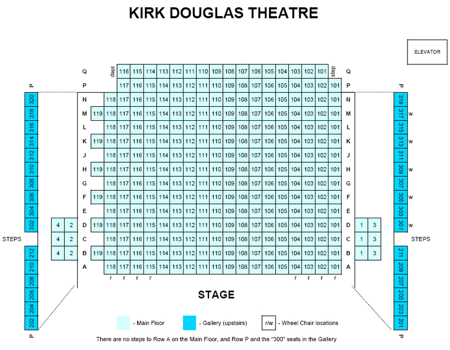 Kirk Douglas Theatre Seating Chart