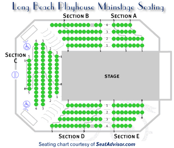 Long Beach Playhouse Main Stage Seating Chart