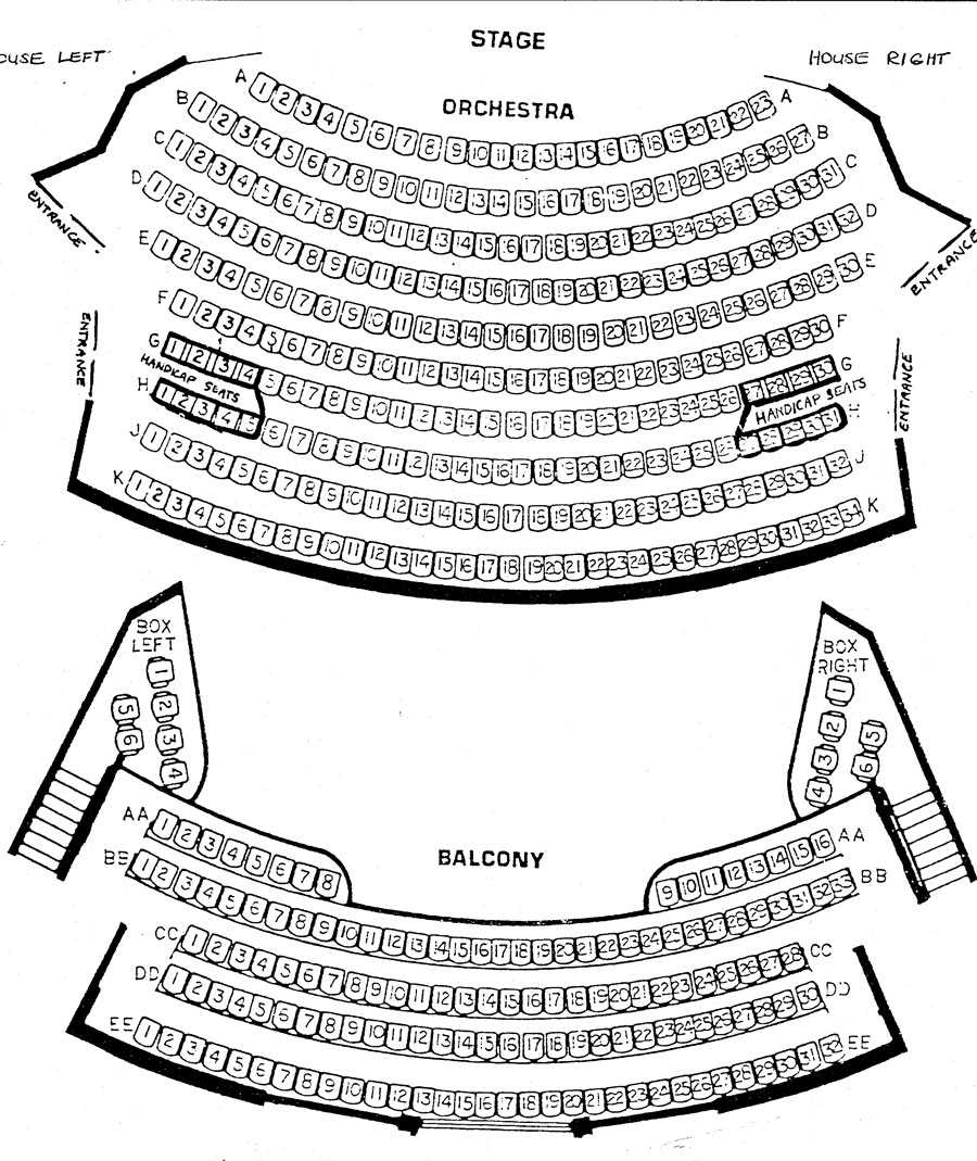 Norris Center Seating Chart
