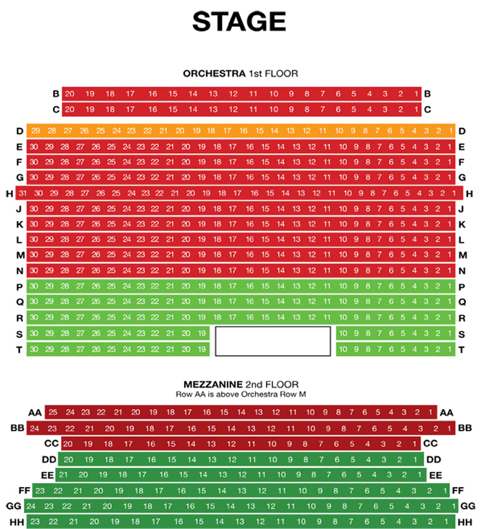 Pasadena Playhouse Seating Chart